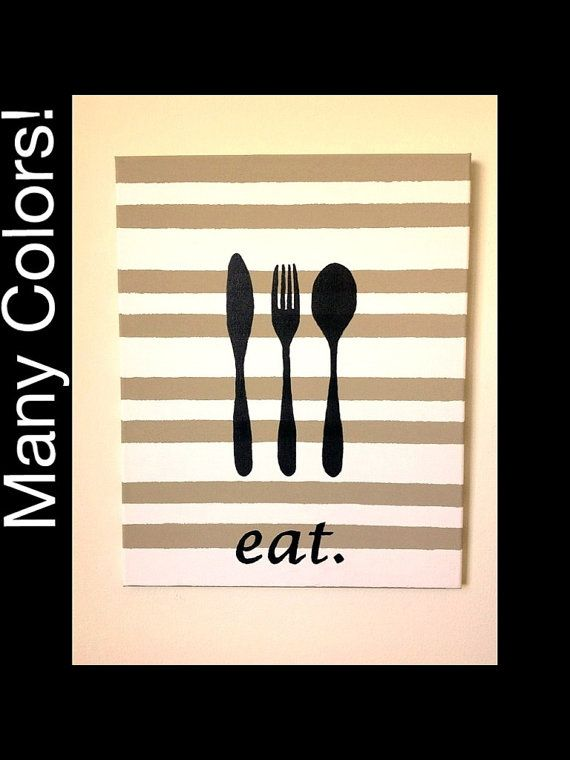 Canvas Art Wall Kitchen Dining Room Utensil Custom Personalized Knife