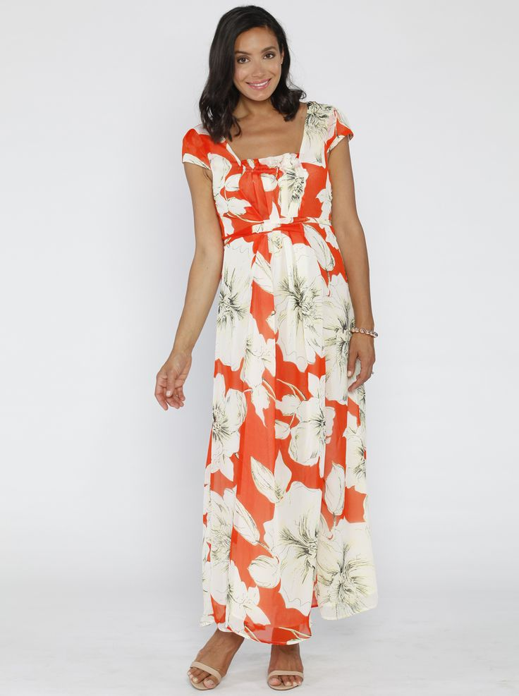Picture Perfect Maxi Dress in Autumn Flowers, $59.95, is a STUNNING dress essential for any expecting mum who likes to look her best!
