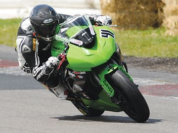 Accounting student from Thornton tearing up bike track - Amzy Nawaz scored a podium finish at Canadian Tire Motorsport Park this weekend in the Hindle Exhaust Pro Sport Bike series. The 20-year-old Thornton resident rode his Kawasaki to third place, his best ever finish in a pro event.