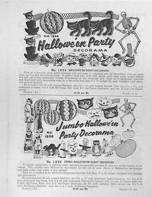 1958 59 beistle catalog halloween iivintage halloweenvintage holidayholiday decorations