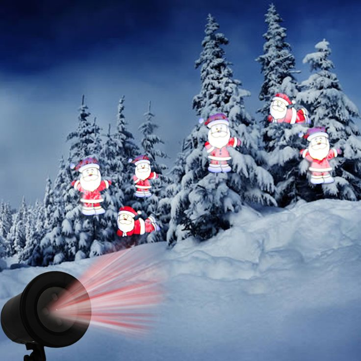 Kshioe LED Automatic Conversion Santa Claus LED Christmas Decoration Landscape Lawn Lamp - Tmart