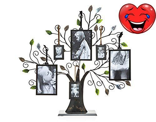#design #Bronze Family Tree with Green Leaves And Six Photo #Frames Made In China