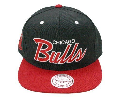 Mitchell & Ness Chicago Bulls The Script Is In 2-Tone Snapback Hat by Mitchell & Ness. $29.18. Snapback closure provides a great fit. Team logo on right side. Raised, embroidered graphics. Mitchell & Ness script on back. Flat brim for a new age look. Officially Licensed by NBA High Quality Embroidery Made by Mitchell and Ness High Crown Retro Shape Flat embroidery Contrast button, eyelets and visor Plastic snap closure