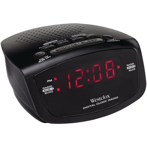"WESTCLOX 80209 .6"" Red LED Alarm Clock Radio"