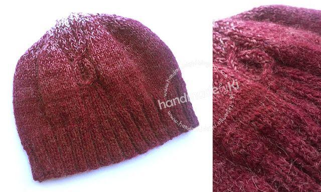 HANDMADE by Ki: melanżowa czapka + rękawiczki