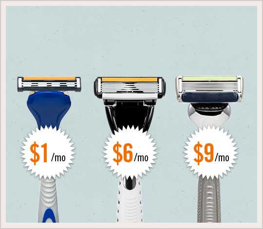 Dollar Shave Club Subscription. Great for anyone on your list who shaves!