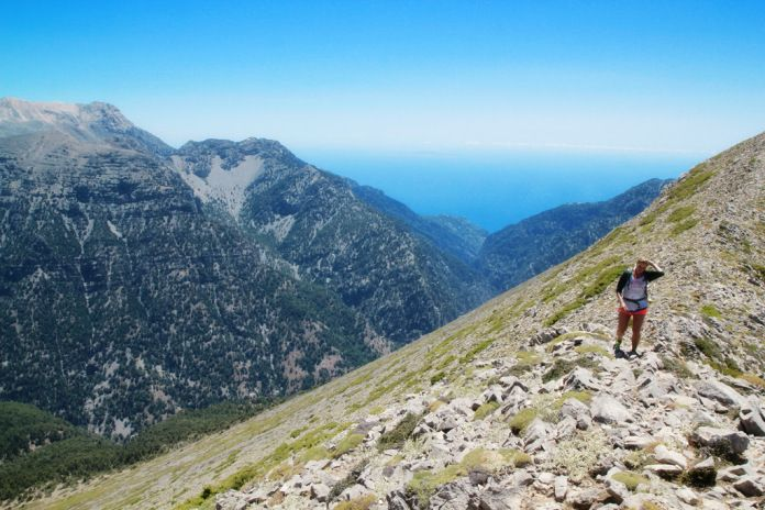 Hiking Safari Psari Summit,Kallergi Refuge and Samaria Gorge. King of the mountain...