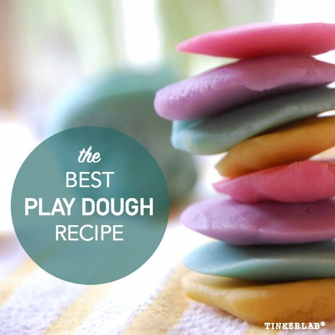 The best playdough recipe | How to Make play dough Several friends rated this the best recipe they've ever used for homemade play dough.   | Tinkerlab.com