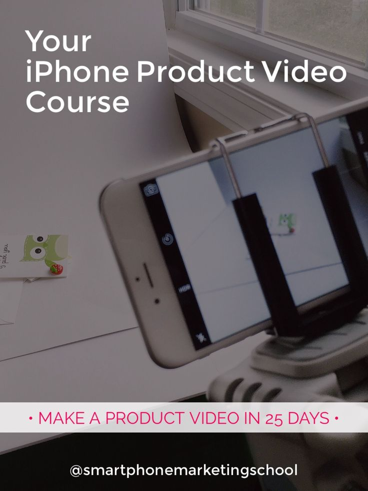 This free iPhone video course shows you the easiest way to make professional videos for your products in just 25 days.