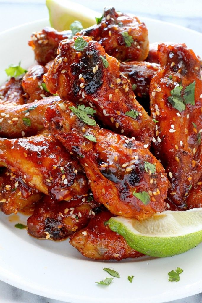 Just when you thought you couldn't love wings more, they added sriracha. Get the recipe from Baker by Nature.   - Delish.com