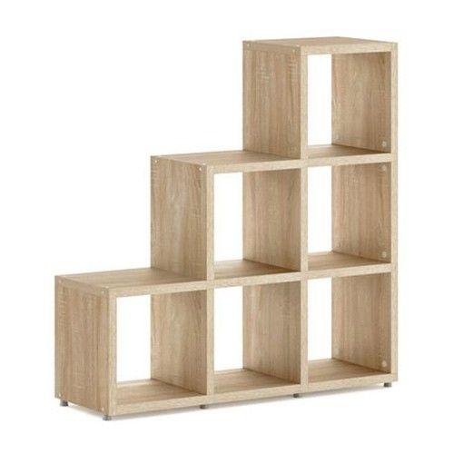 Three Step Cube Shelves - Oak