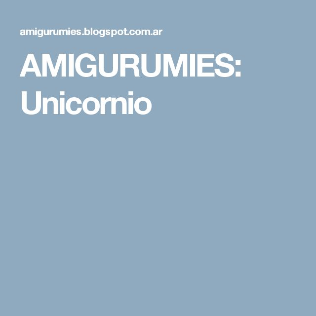 AMIGURUMIES: Unicornio