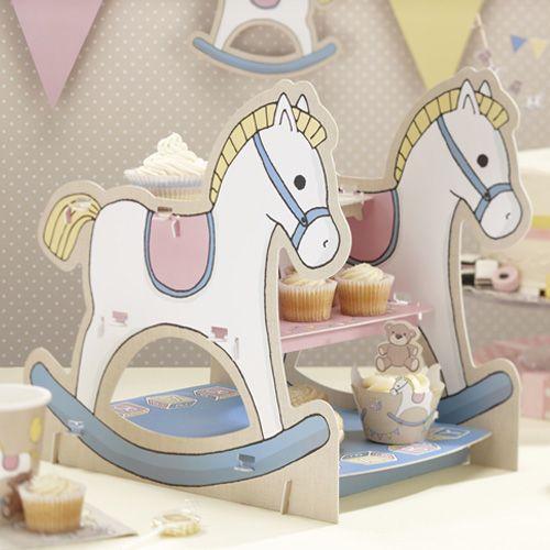 Stand caballito de juguete. Ideal para mesas dulces/candy bar.