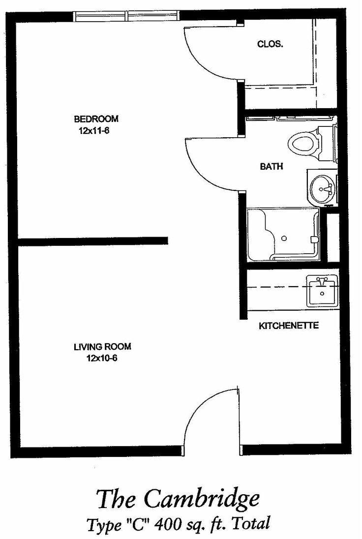 400 Sq Ft Apartment Floor Plan Google Search