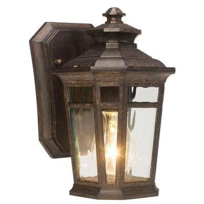 Home Decorators Collection Waterton 1 Light Dark Ridge Bronze Outdoor Wall Lantern Outdoor