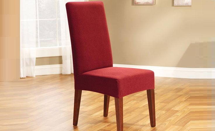 Red Pearson Dining Chair Cover by Sure Fit