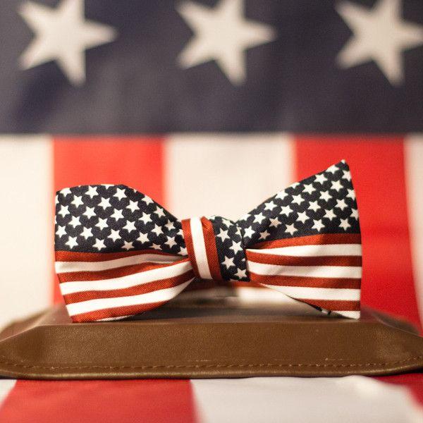American Gentleman Bow Tie - American flag self tie bow tie by America Party Gear.  American Flag Self Tie Bow Tie. Stars and Stripes Bow Ti...