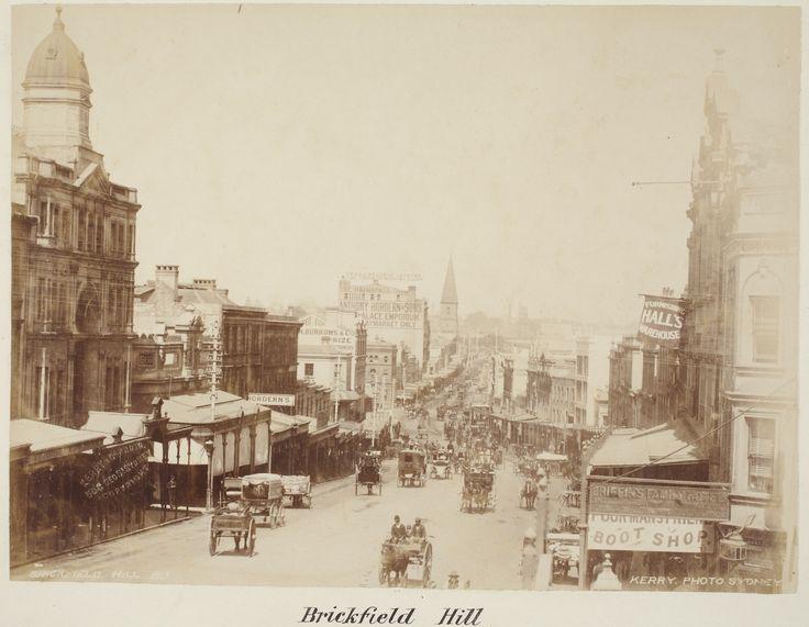 Brickfield Hill 1880s