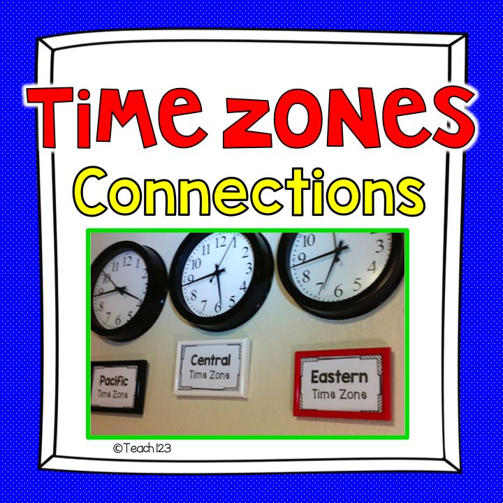 FREE Morning Message - Telling Time:  set up time zone clocks in your classroom.  It is a great way to help your students make real world connections.