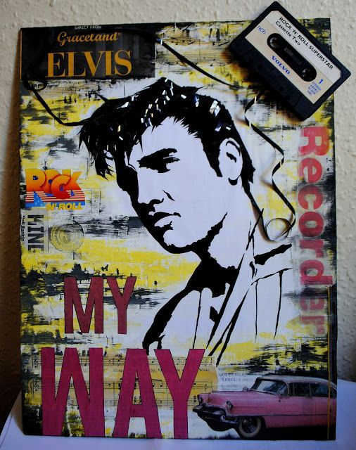 artBASM: ELVIS - My WAY '' - Mixed Art Media Collage - BASM