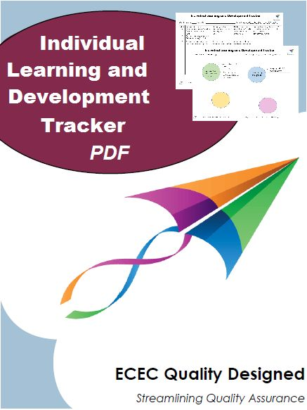 """Are you constantly juggling Portfolio folders during programming time?  Would you like a simple tracker that can be quickly updated, reviewed and shows the learning journey of a child?  Introducing the """"Individual Learning and Development Tracker"""".  This two piece resource consists of a tracker chart and a web-style development display."""
