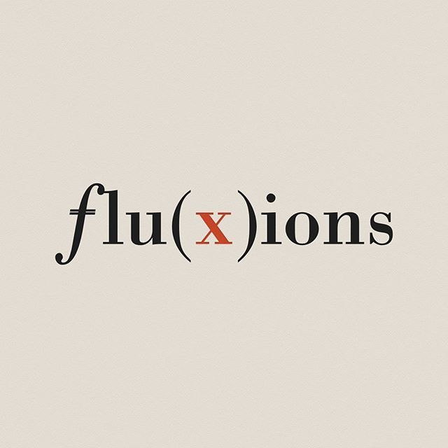 fluxions #typography #math #calculus #newton #function #mathematics #style #design #logo #minimal #clean