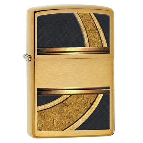 Zippo Gold And Black Lighter