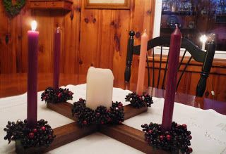 Kathleen's Catholic: Advent Wreath: The Wood of the Manger, Carpenter, and Cross