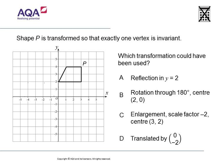Transformations and Invariant Points (Higher): GCSE Maths Question of the Week on Mr Barton Maths