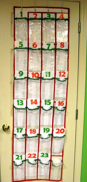 would be a great lil spot to put a small gift for both kids each day to count down the days till Christmas