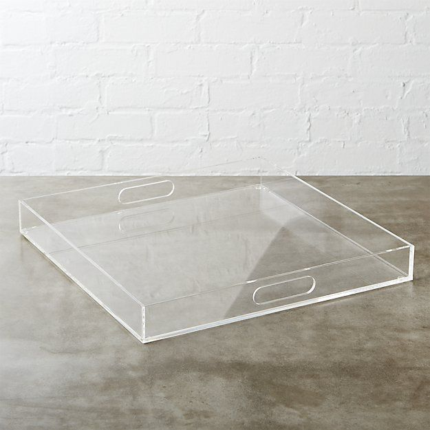 <<Yes clear trays!!>> format clear square tray   CB2