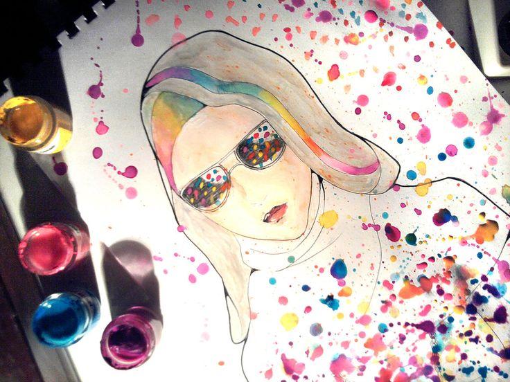 Color girl2 by hanabi90@deviantart *Colour your life