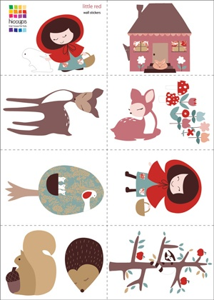 Hiccups Little Red Wall Stickers.