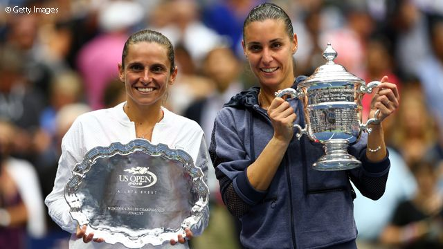 She's the second Italian in the Open Era to win a major - Francesca Schiavone won the 2010 French Open.