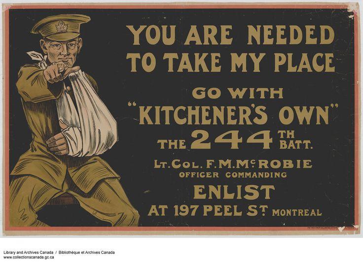 Canadian First World War, Enlistment & Propaganda Posters - Canada at War Forums