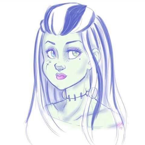 #frankiestein from #monsterhigh  #fanart #doodle #booyork   She's such a cool #ghoul XP  #Frankenstein #mpnster #drawing #myart #art #artist #doodle