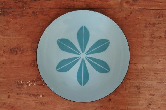 Cathrineholm Blue on Blue Lotus Enamelware Tray Plate Platter - SOLD! :)