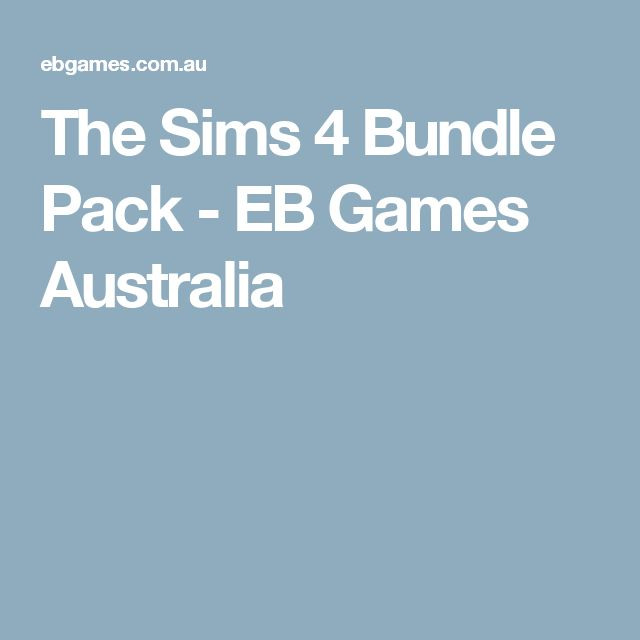 The Sims 4 Bundle Pack - EB Games Australia