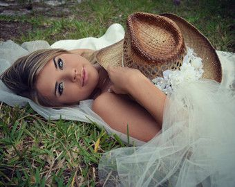 sombrero de vaquera occidental de novia para por MorganTheCreator