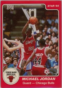 Rare Michael Jordan Star Company card.  His 'true rookie' is among the 10 best 1980s basketball rookie cards in this feature story.
