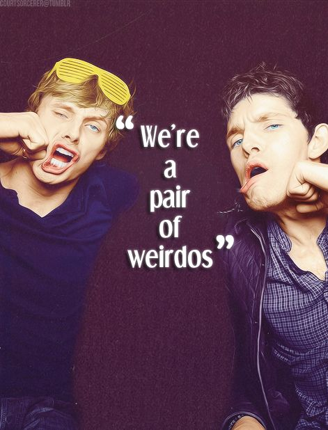 Bradley James and Colin Morgan of Merlin