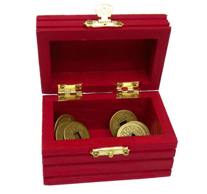 Unique Feng Shui - Red Box with 9 Coins underbed promotes a positive Shift in…
