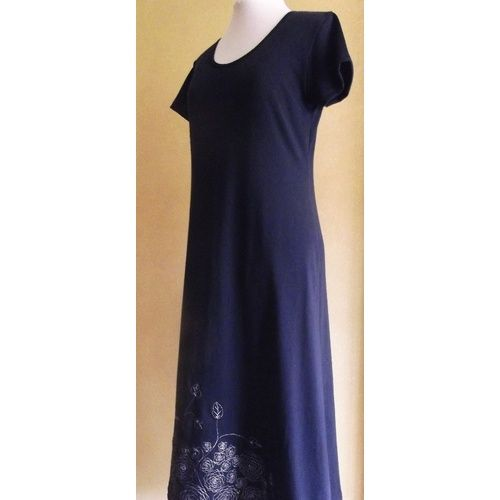 Beautiful Embroidered Cotton Dress. Australian made garment & fabric