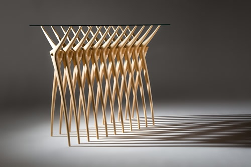Ardu Rib cage Console Table - the design is so elegant and simple yet the repetition makes it complex