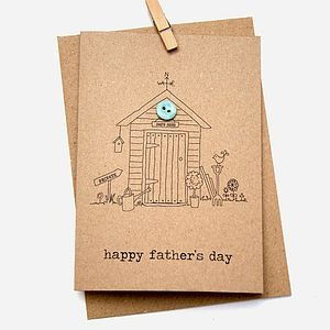 'Happy Father's Day' Button Box Card