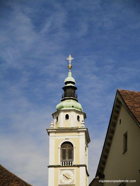 Torre de la Catedral de St. Nicholas en #Liubliana, #Eslovenia