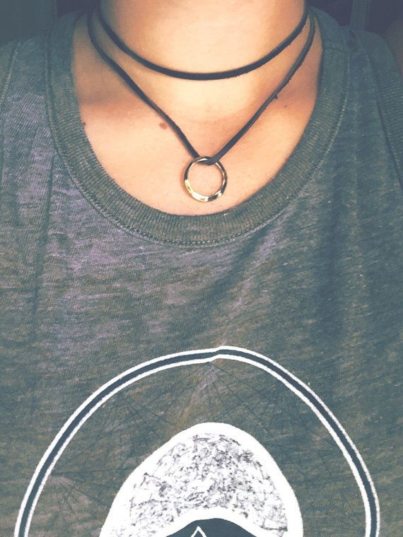 Double Wrap Leather Choker Necklace by GreenEGGsnCamDesigns