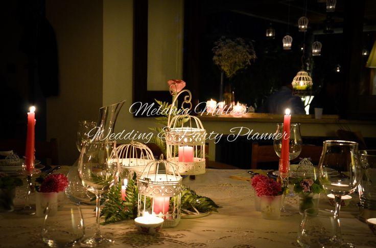 Centrotavola romantico  Allestimenti ... Wedding e Party Planner Catania Melania Millesi http://www.melaniamillesi.it/