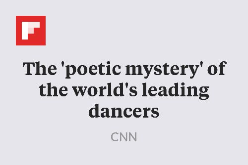 The 'poetic mystery' of the world's leading dancers http://flip.it/loFSu
