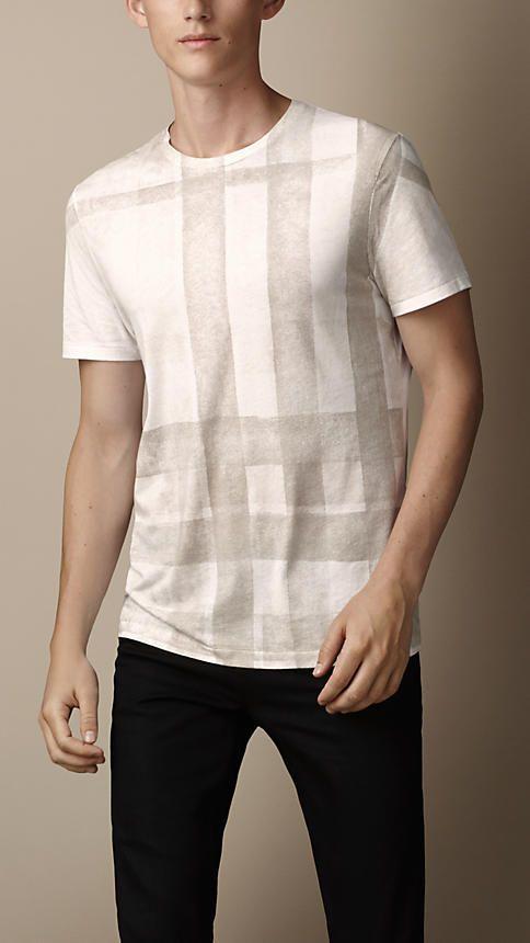 Burberry Brit Check Print T-Shirt